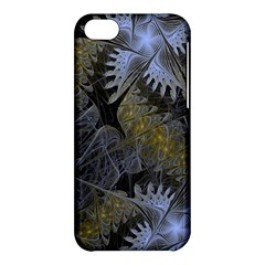 Fractal Wallpaper With Blue Flowers Apple iPhone 5C Hardshell Case