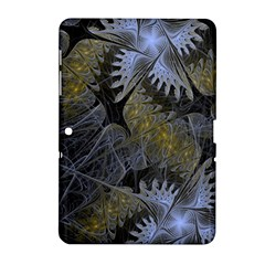 Fractal Wallpaper With Blue Flowers Samsung Galaxy Tab 2 (10 1 ) P5100 Hardshell Case  by Amaryn4rt