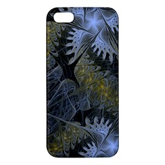 Fractal Wallpaper With Blue Flowers iPhone 5S/ SE Premium Hardshell Case