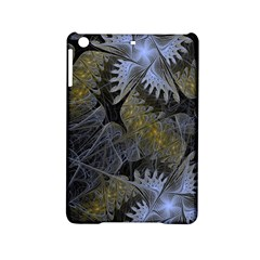 Fractal Wallpaper With Blue Flowers iPad Mini 2 Hardshell Cases