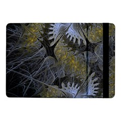 Fractal Wallpaper With Blue Flowers Samsung Galaxy Tab Pro 10.1  Flip Case