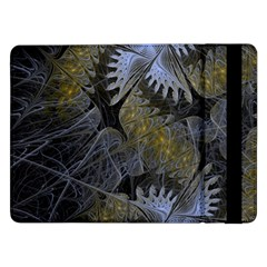 Fractal Wallpaper With Blue Flowers Samsung Galaxy Tab Pro 12.2  Flip Case