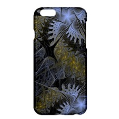Fractal Wallpaper With Blue Flowers Apple iPhone 6 Plus/6S Plus Hardshell Case