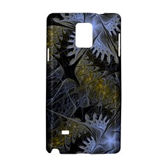 Fractal Wallpaper With Blue Flowers Samsung Galaxy Note 4 Hardshell Case