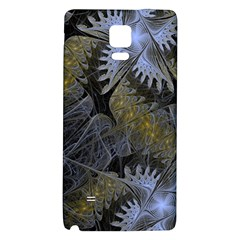 Fractal Wallpaper With Blue Flowers Galaxy Note 4 Back Case