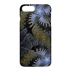 Fractal Wallpaper With Blue Flowers Apple iPhone 7 Plus Hardshell Case
