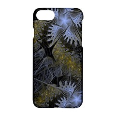 Fractal Wallpaper With Blue Flowers Apple iPhone 7 Hardshell Case
