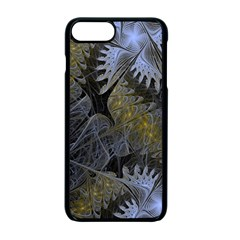 Fractal Wallpaper With Blue Flowers Apple iPhone 7 Plus Seamless Case (Black)