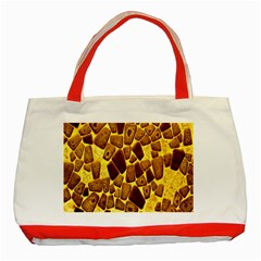 Yellow Cast Background Classic Tote Bag (red) by Amaryn4rt