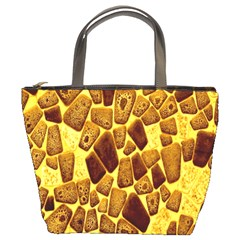 Yellow Cast Background Bucket Bags by Amaryn4rt