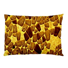 Yellow Cast Background Pillow Case by Amaryn4rt