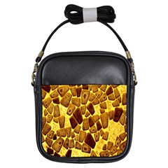 Yellow Cast Background Girls Sling Bags