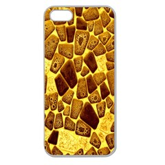 Yellow Cast Background Apple Seamless Iphone 5 Case (clear) by Amaryn4rt