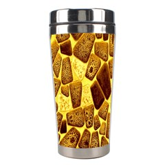Yellow Cast Background Stainless Steel Travel Tumblers by Amaryn4rt