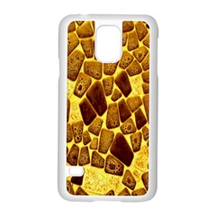 Yellow Cast Background Samsung Galaxy S5 Case (white) by Amaryn4rt