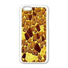Yellow Cast Background Apple Iphone 6/6s White Enamel Case