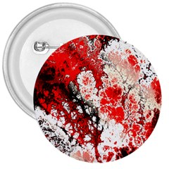 Red Fractal Art 3  Buttons by Amaryn4rt