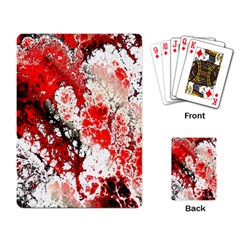 Red Fractal Art Playing Card by Amaryn4rt