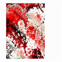 Red Fractal Art Small Garden Flag (two Sides) by Amaryn4rt