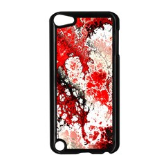 Red Fractal Art Apple Ipod Touch 5 Case (black) by Amaryn4rt