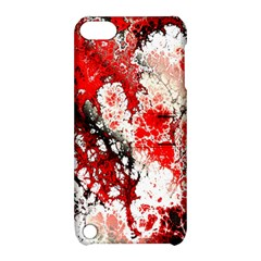 Red Fractal Art Apple Ipod Touch 5 Hardshell Case With Stand by Amaryn4rt