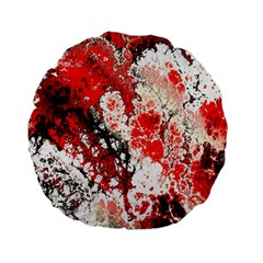 Red Fractal Art Standard 15  Premium Flano Round Cushions by Amaryn4rt