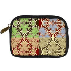Multicolor Fractal Background Digital Camera Cases by Amaryn4rt