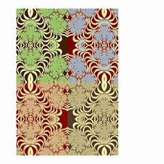Multicolor Fractal Background Small Garden Flag (two Sides) by Amaryn4rt