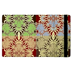 Multicolor Fractal Background Apple Ipad 2 Flip Case by Amaryn4rt
