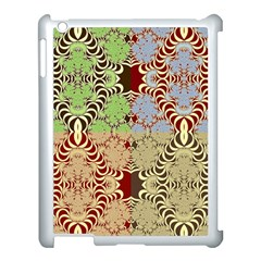 Multicolor Fractal Background Apple Ipad 3/4 Case (white) by Amaryn4rt