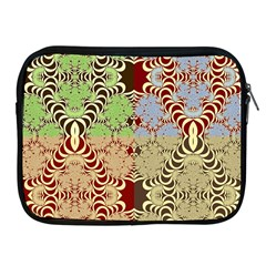 Multicolor Fractal Background Apple Ipad 2/3/4 Zipper Cases