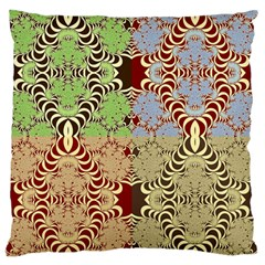 Multicolor Fractal Background Large Flano Cushion Case (two Sides) by Amaryn4rt