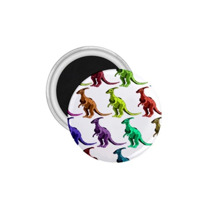 Multicolor Dinosaur Background 1.75  Magnets