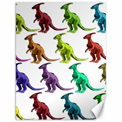 Multicolor Dinosaur Background Canvas 18  X 24   by Amaryn4rt