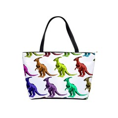 Multicolor Dinosaur Background Shoulder Handbags by Amaryn4rt