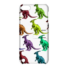 Multicolor Dinosaur Background Apple Ipod Touch 5 Hardshell Case With Stand by Amaryn4rt