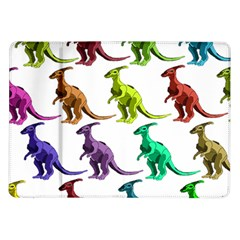 Multicolor Dinosaur Background Samsung Galaxy Tab 10 1  P7500 Flip Case by Amaryn4rt