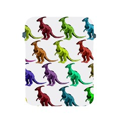 Multicolor Dinosaur Background Apple Ipad 2/3/4 Protective Soft Cases by Amaryn4rt