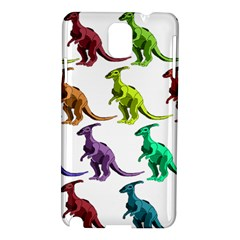 Multicolor Dinosaur Background Samsung Galaxy Note 3 N9005 Hardshell Case by Amaryn4rt
