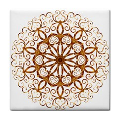 Golden Filigree Flake On White Face Towel by Amaryn4rt