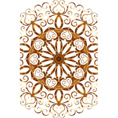 Golden Filigree Flake On White 5 5  X 8 5  Notebooks by Amaryn4rt