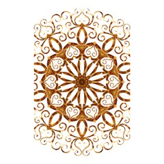 Golden Filigree Flake On White Shower Curtain 48  X 72  (small)