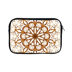 Golden Filigree Flake On White Apple Ipad Mini Zipper Cases by Amaryn4rt