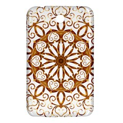 Golden Filigree Flake On White Samsung Galaxy Tab 3 (7 ) P3200 Hardshell Case  by Amaryn4rt