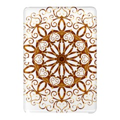 Golden Filigree Flake On White Samsung Galaxy Tab Pro 12 2 Hardshell Case by Amaryn4rt