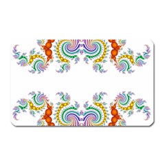 Fractal Kaleidoscope Of A Dragon Head Magnet (rectangular) by Amaryn4rt