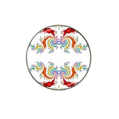 Fractal Kaleidoscope Of A Dragon Head Hat Clip Ball Marker by Amaryn4rt