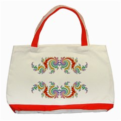 Fractal Kaleidoscope Of A Dragon Head Classic Tote Bag (red) by Amaryn4rt