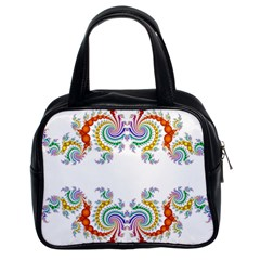 Fractal Kaleidoscope Of A Dragon Head Classic Handbags (2 Sides) by Amaryn4rt