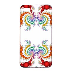Fractal Kaleidoscope Of A Dragon Head Apple Iphone 4/4s Seamless Case (black) by Amaryn4rt